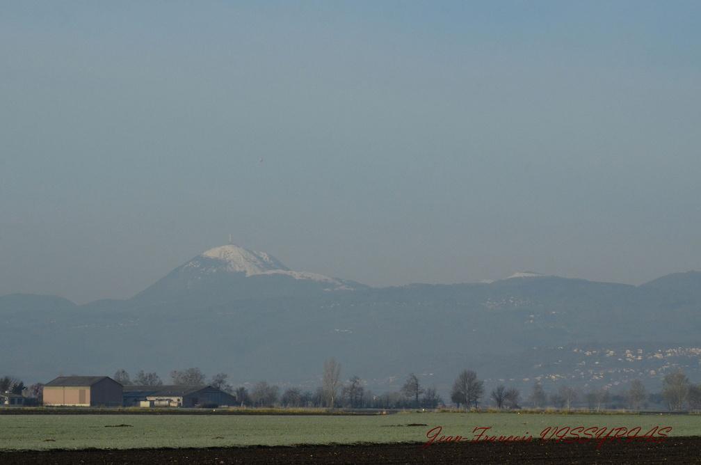 Puy de Dôme enneigé