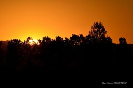 couché de soleil en Limagne